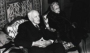André Maurois et Simone Cavaillet à Essendiéras