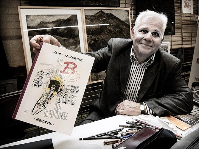 Jean-Michel Linfort  et les anciennes BD de cyclisme