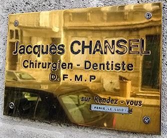 Plaque Jacques Chancel