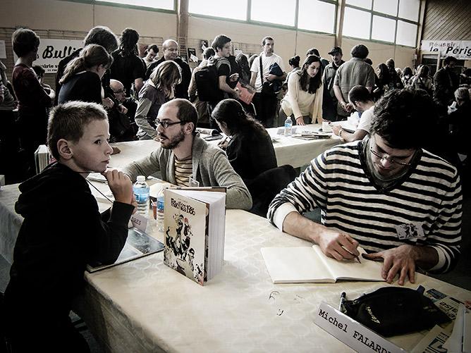 DD'une travée à l'autre, la foule pour les 50 auteurs du Salon de la bande dessinée à Bassillac
