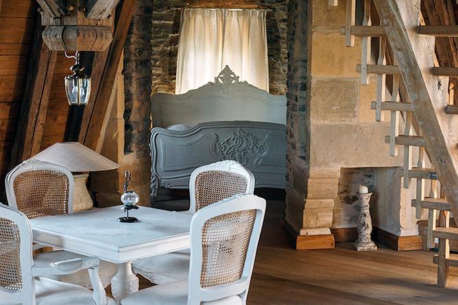 Une des chambres d'hôtes du château