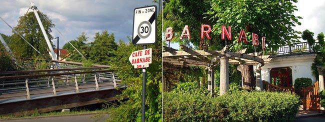Route vers la guinguette de Barnabe et l'entrée