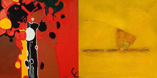 Œuvres de Bernard Lecru et de Yakinikou