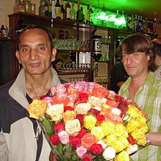 Ali Shaukat et Calou au bar de la Truffe à Périgueux