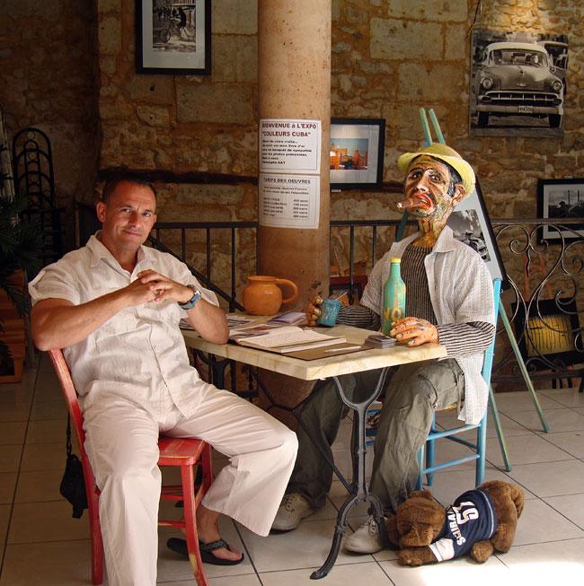 Christophe Gay au V.I.P. en juin 2009 pour Couleur Cuba