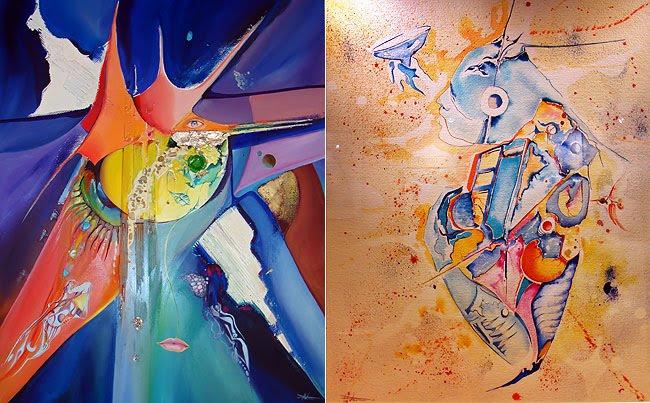 Deux peintures de Djice
