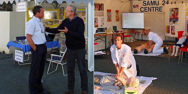 [1] Dominique Louis et Frédérique Liogier [2] Docteur Véronique Boussaud et Marie-Line Connangle, infirmière