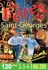 Les fêtes de Saint Georges 2008 - le poster (par Maurice Melliet (?))