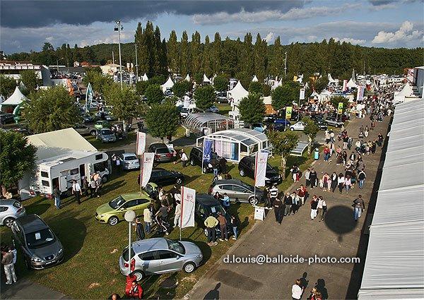 Vue aérienne de la Foire Expo prise par Dominique Louis