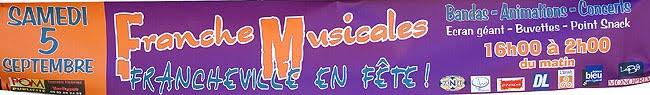 La bannière pour les France Musicales de Périgueux 2009