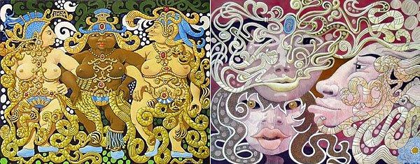 Frank K W Allen deux peintures - photos envoyée par Marcel Pajot