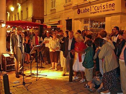 Frank Valentin chante à Périgueux