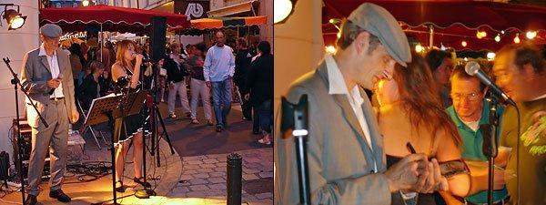 [1] Frank Valentin chante avec Élodie - [2] Frank signe des autographes