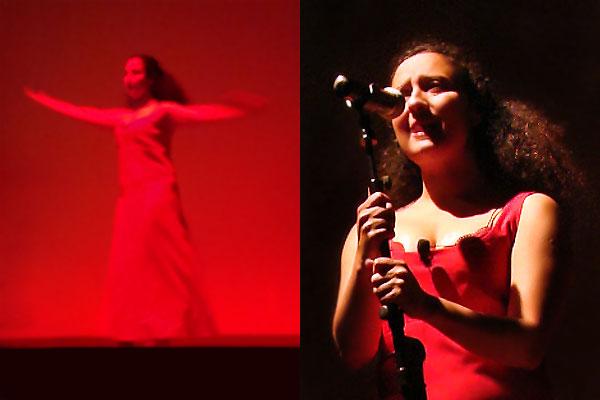 Haley Gheytanchi Tabrizi sur une scène à Domme en Dordogne