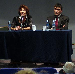 Joëlle Chevé - historienne et Jean-Louis Glénisson directeur de la bibliothèque de Périgueux - 2007