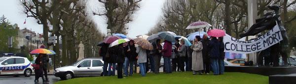 Laure Gatet - opération collège mort - les enseignants en grève en avril 2008