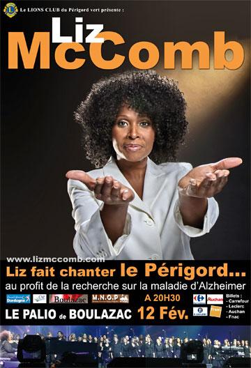 Affiche de Liz McComb au Palio de Boulazac près de Périgueux