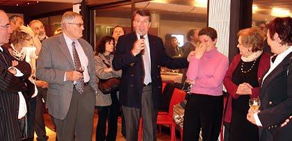 Michel Lopez, Xavier Darcos et Laure Darcos le soir des résultats où il apprendra qu'il a perdu la mairie de Périgueux