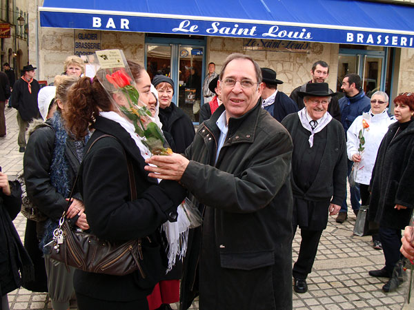 Remise des prix au marché au Gras de Périgueux avec Michel Moyrand