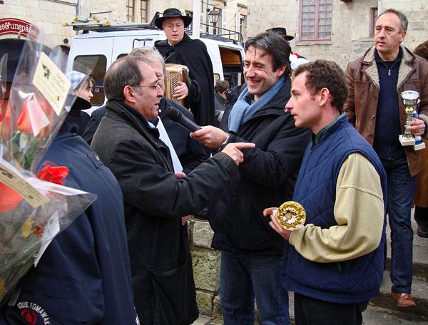 Michel Moyrand et Christian Dupuy lors d'une remise des prix