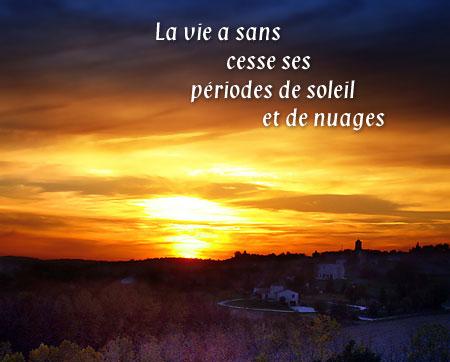 Montagrier Dordogne - soleil couchant le 06 novembre 2006