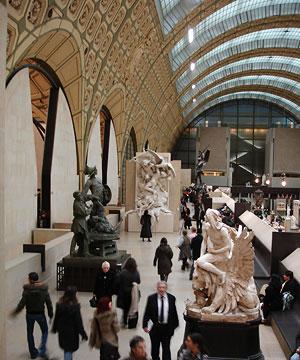 Musée d'Orsay Paris, intérieur