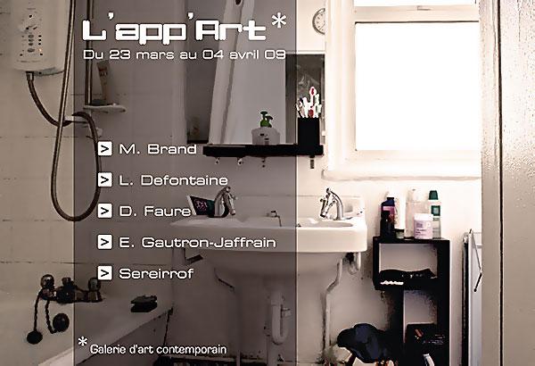Carte Blanche à Daniel Faure - inauguration de l'App'Art