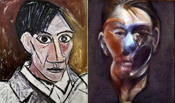 Autoportraits Pablo Picasso et Francis Bacon