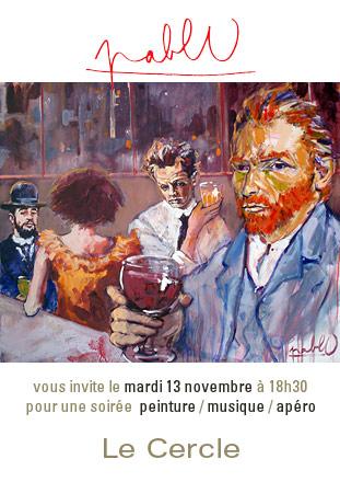 Pablo - exposition au bar Le Cercle à Périgueux - mardi 13 novembre 2007 à partir de 18h30