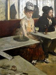 Degas, dans un café