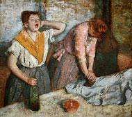 Degas, les repasseuses