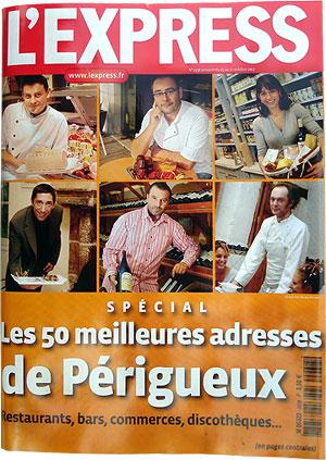 L'Express 50 meilleurs adresses a Périgueux 2007