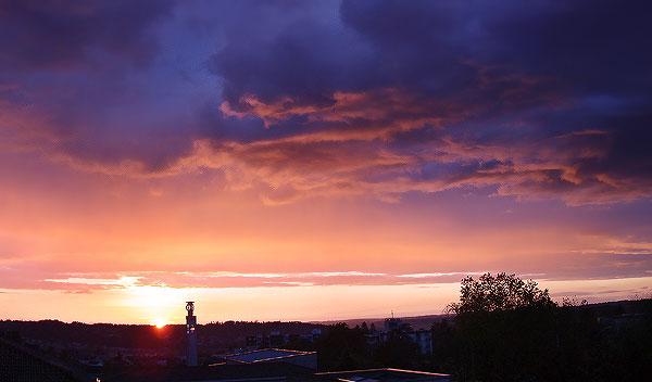 Ciel couchant au dessus de Périgueux le 04 novembre 2008