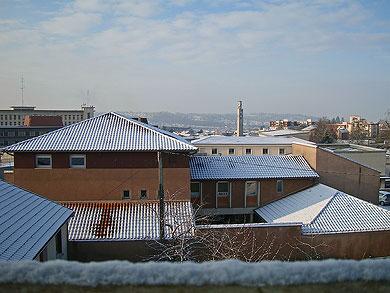 Périgueux sous la neige le mardi 6 janvier 2009