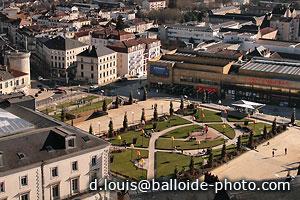Périgueux - Place Francheville et le cinéma Cap