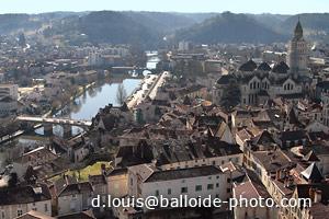 Périgueux - Saint Front, pont des Barris et rivière L'Isle
