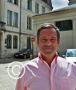 Philippe Cornet sur la place du Coderc en 2009