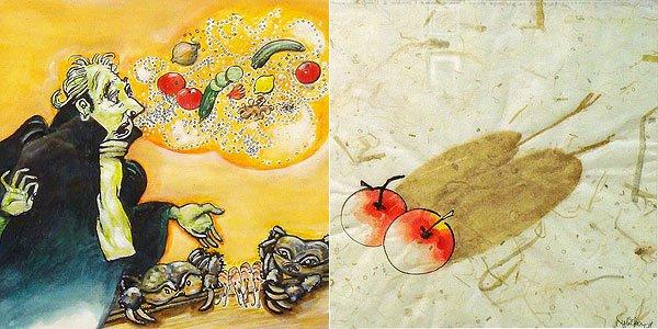 Œuvres de Philippe Demeillier et de Sylvie Weber