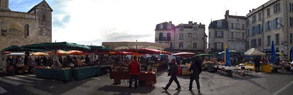 La place de la Clautre près de St-Front samedi 31 janvier 2009