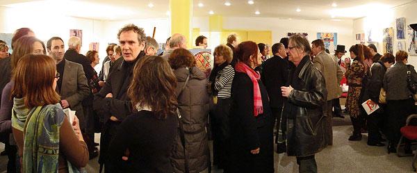 Premier Mouvement, une performance donnée par Pablo assisté d'Éva Dessalles qui a écrit les textes et de Pierre Cherbero qui la accompagné au piano et au chant - Rotary Club le 19 février 2009