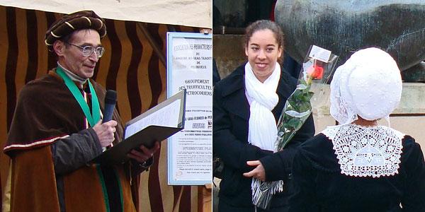 Remise des prix au marché au Gras de Périgueux en janvier 2009