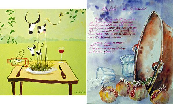 Œuvres de Stephane Spittael et de Christian Panissaud