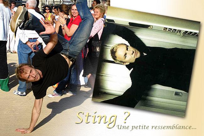 Franck Billaud (photographié en 2008) surnommé Sting, est un des animateurs principaux de la Capoeira à Périgueux