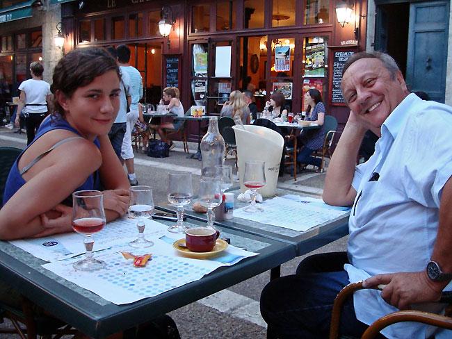 Virginie et son père Régis CHIOROZAS