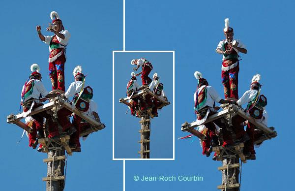 Les Voladores - photo montage par Jean-Roch Courbin