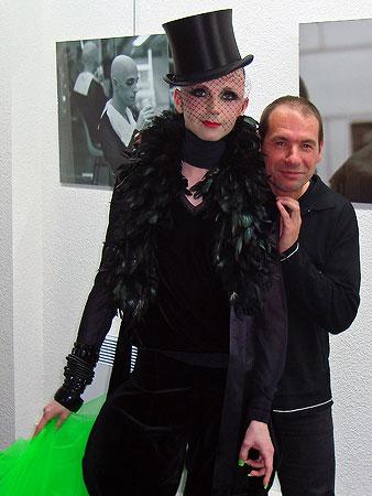 Diva et Xavier Boisserie à l'App'Art le 27 avril 2009