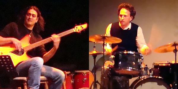 Nicolas MIRANDE à la guitare et Bertrand NOËL à la batterie