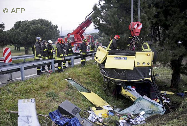 Accident en Italie d'un bus avec passagers périgourdins - 3 morts