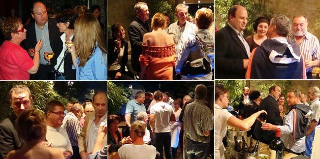 Célébration des 50 ans d'Alain Pouquet au bar à vin Le Cercle