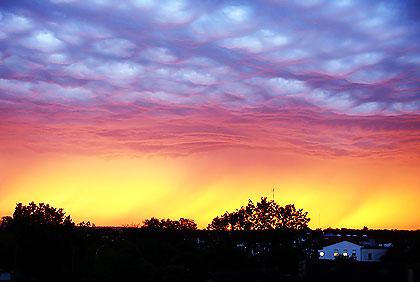 Orage 1er août 2007 au soir, vue prise à partir de ma fenêtre.